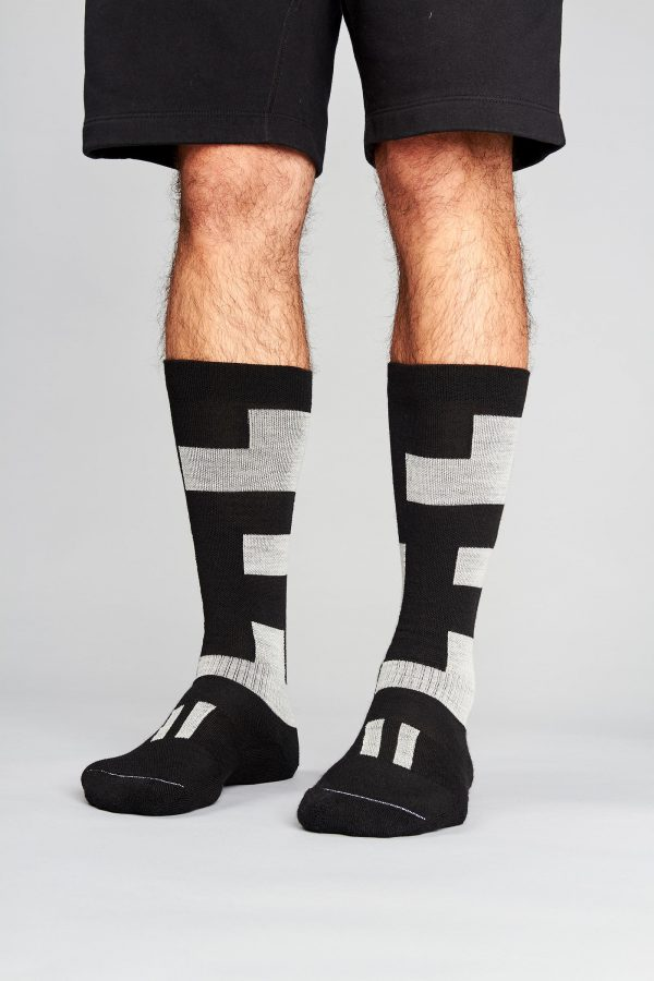 block socks on legs
