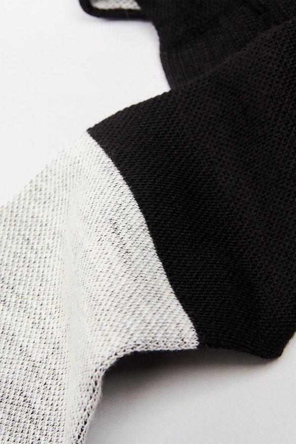 Two-Tone Merino Soccer Socks Mid-Length 07 ML TwoTone Knit